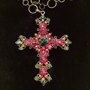 Jewelry necklace with cross